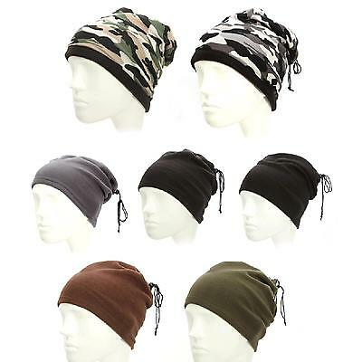 Mens Womens Outdoor Sports Fleece Hat Cap Neck Face Warmer Scarf Beanie Mask New