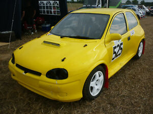Details about FIBREGLASS CORSA B WIDE ARCH BODY PANEL KIT  RACE/RALLY/RALLYCROSS ETC