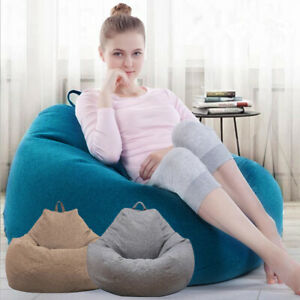 Canape-Housse-De-Chaise-Adultes-Enfants-Grand-Pouf-Sac-ChaiseSans-Charge-PS