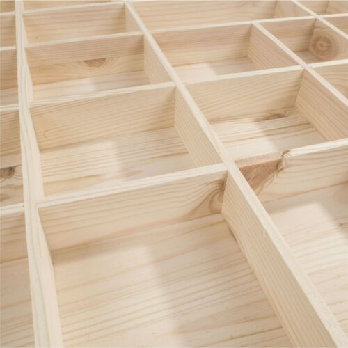 Wooden Display Shelves 28 Compartment Wall-mounted Hanging Floating Storage Unit