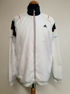 "Diplomatic J71 Mens Adidas White Blue Lightweight Tracksuit Jacket Top Medium M 40"" Eu 50 Strong Packing Clothing, Shoes & Accessories"