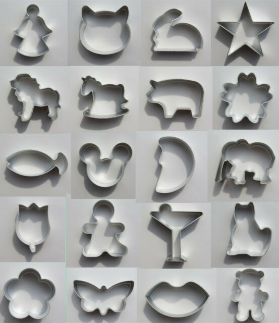 NEW 37 Shapes Biscuit/Cookie/Cake/Jelly Metal Cutter Tin Mould Baking DIY Tool