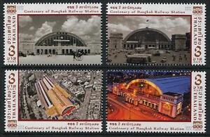 Bangkok-Railway-Station-100th-Anniversary-mnh-set-of-4-stamps-2016-Thailand