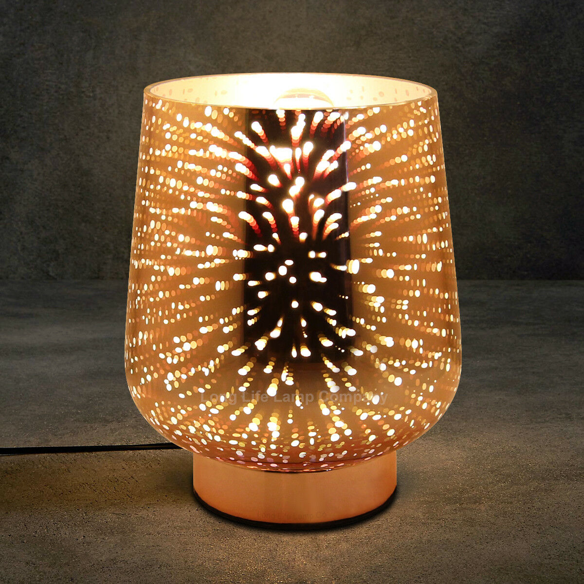 Commercial Table Lamps: 3D Effect GLASS TABLE LAMP Bedroom Restaurant Reception
