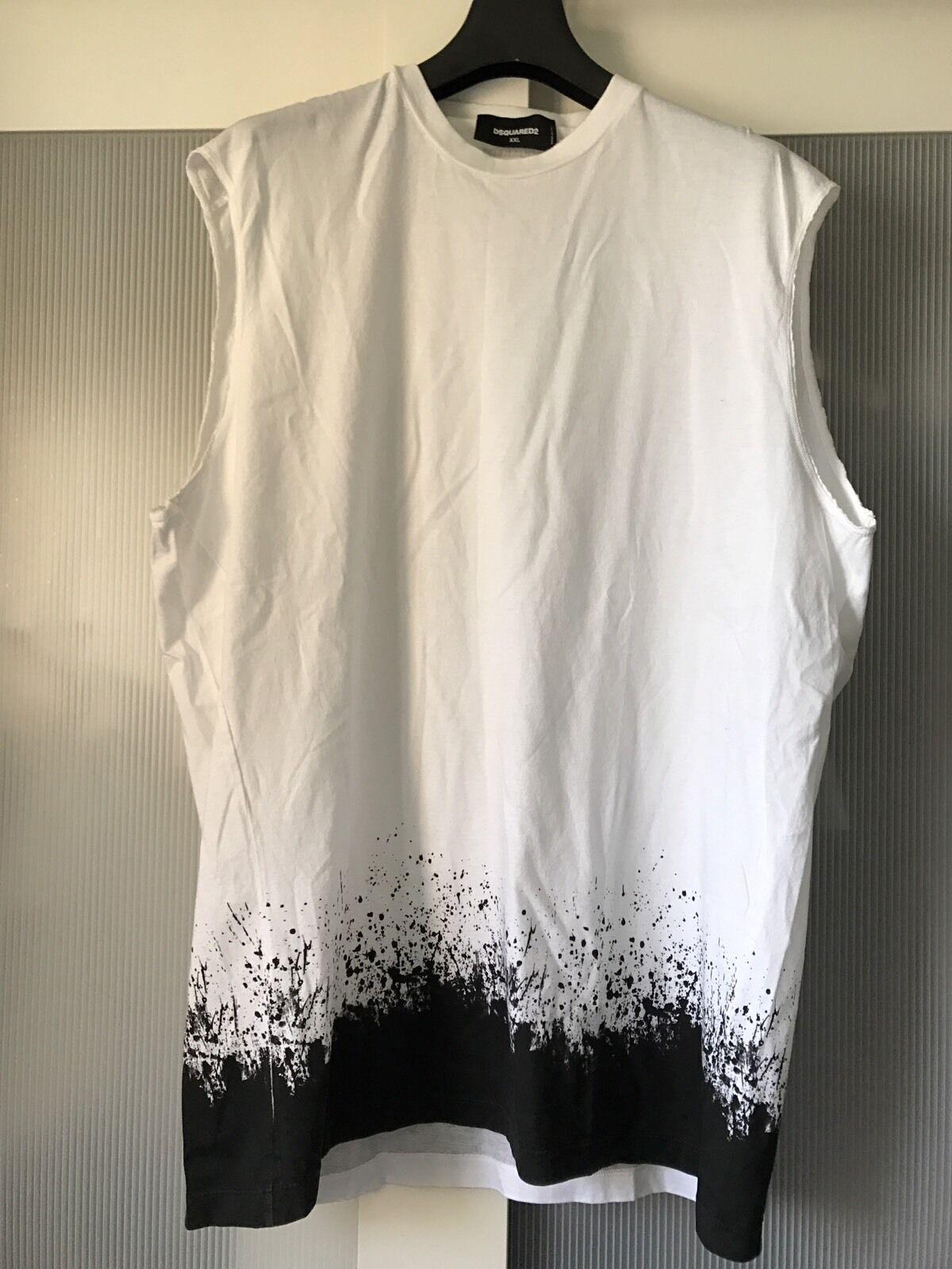 Dsquared 2 men sleeveles  Tshirt vest top XXL Size 100% Authentic