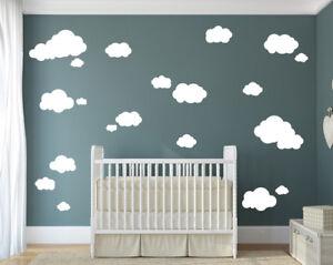 Details zu 22 Wolken - Babyzimmer Kinderzimmer Baby Himmel Geburt  Wandaufkleber WandTattoo