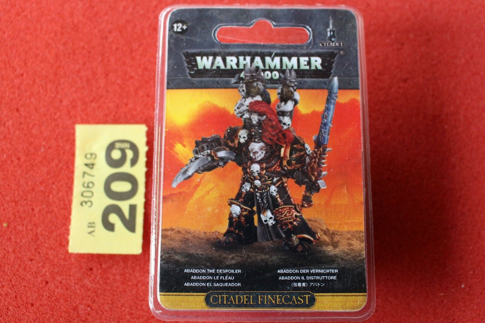 Games Workshop Warhammer 40k Abaddon the Despoiler Chaos Space Marines Finecast