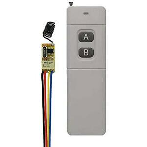 Details about Wireless Relay Switch, 433Mhz DC3 5V- 12V, Long Range Mini  Remote Control With