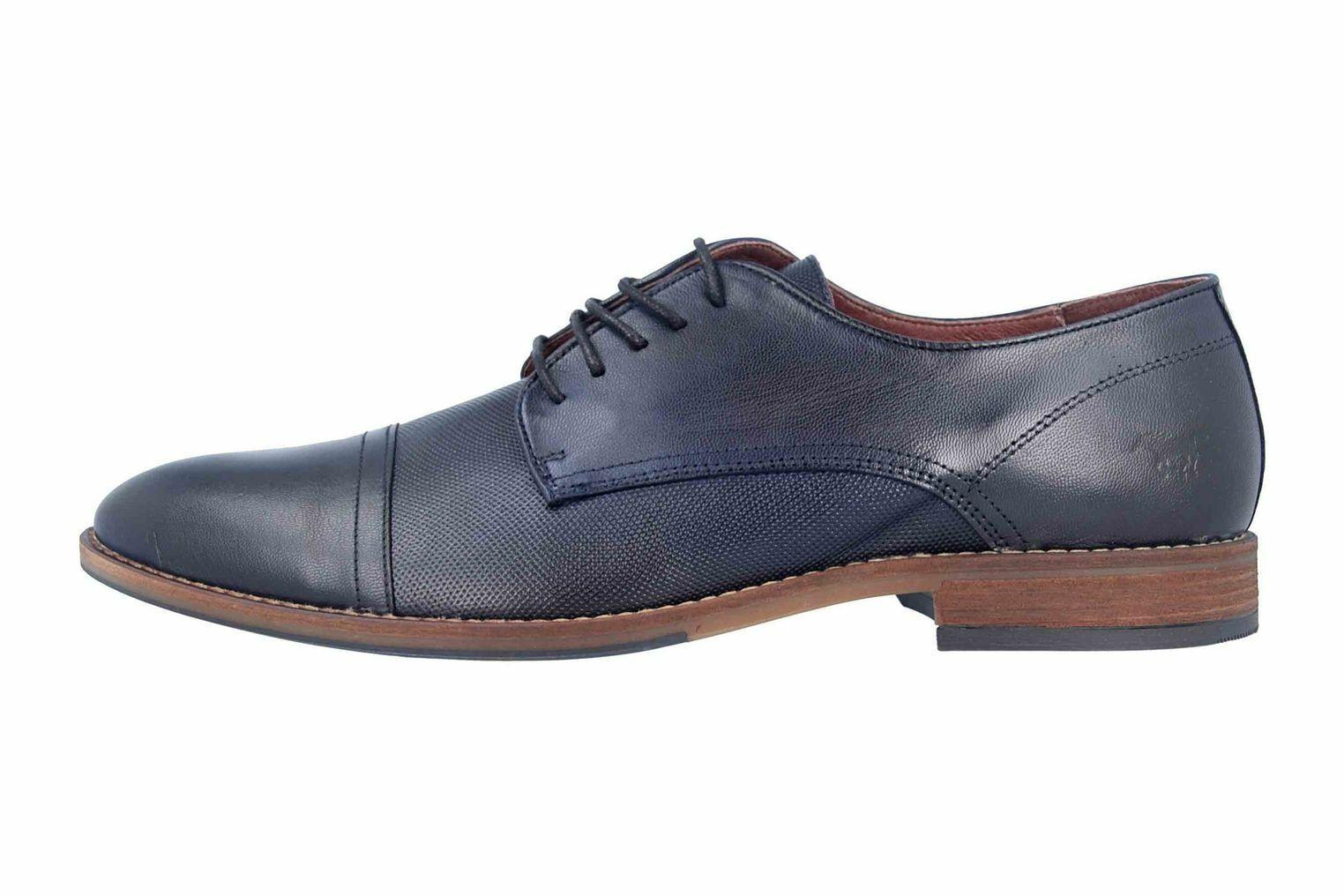 Mustang zapatos zapato bajo en pijama azul 4904-304-820 grandes zapatos caballero