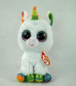 6-034-TY-Beanie-Boos-Glitter-Eyes-Pixy-the-Unicorn-With-Tag-Gift-Plush-Stuffed-Toys