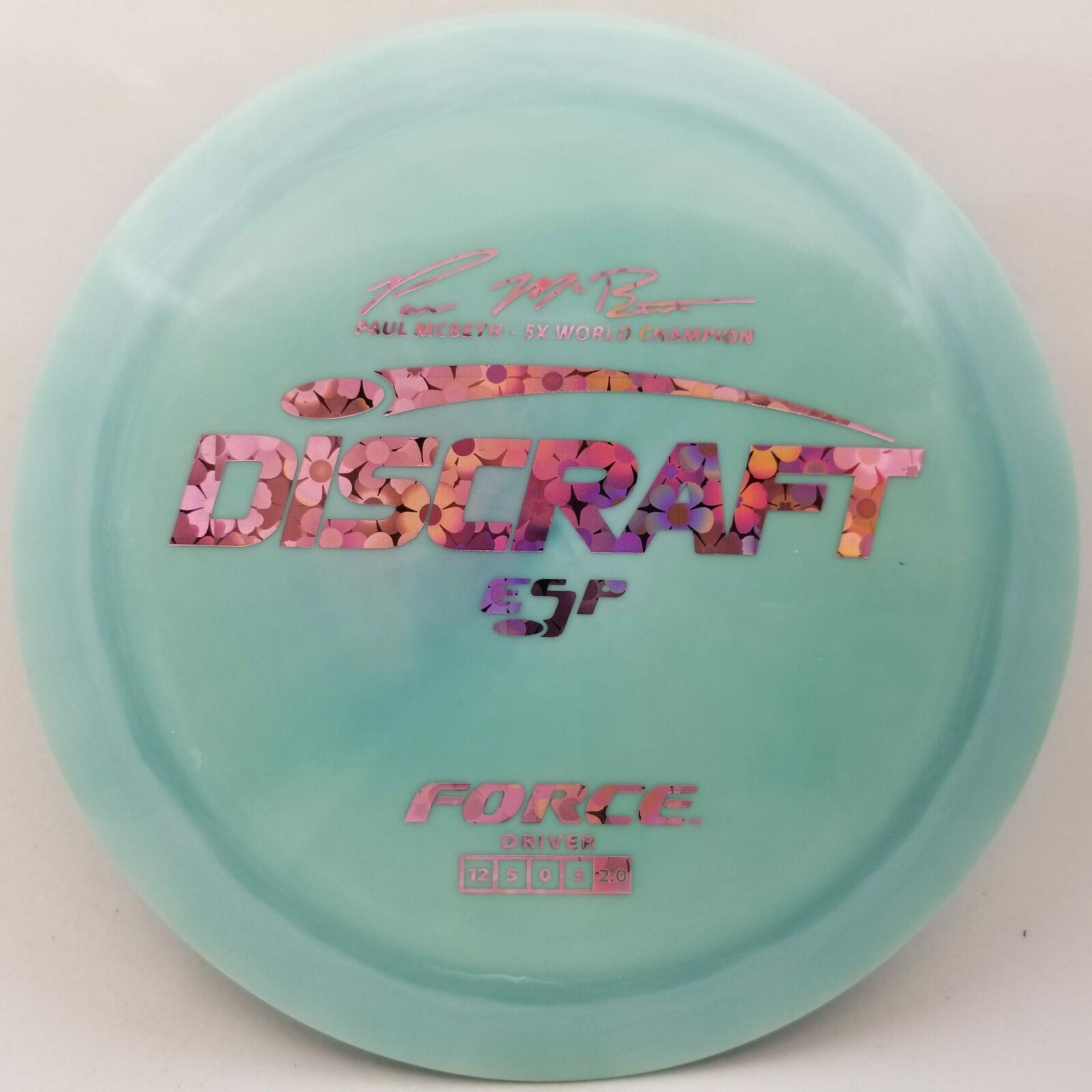 New Discraft ESP Force (Paul McBeth 5x Signature Series) 170-172g