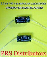 2.2 uF 100 Volt BIPOLAR CAPACITORS BASS BLOCKER SPEAKER TWEETER CROSSOVER 1 Pair
