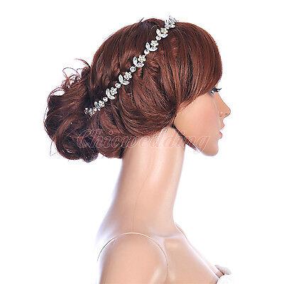 Fashion Accessory Bridal Wedding Flower Faux Pearl Headband Tiara Hairband comb