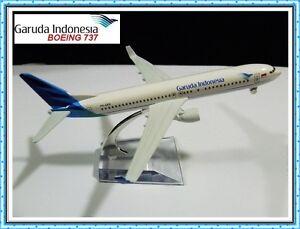 BOEING 737 GARUDA INDONESIA AIRLINE AEROPLANE METAL PLANE MODEL DIECAST GIFT TOY