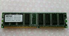 512MB Buffalo DDR1 RAM PC3200U 400MHz CL2.5 184-Pin Desktop Memory MS4002-512MB