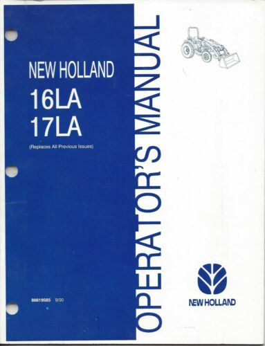 New Holland 16LA 17LA Loader Operator Manual 86619585