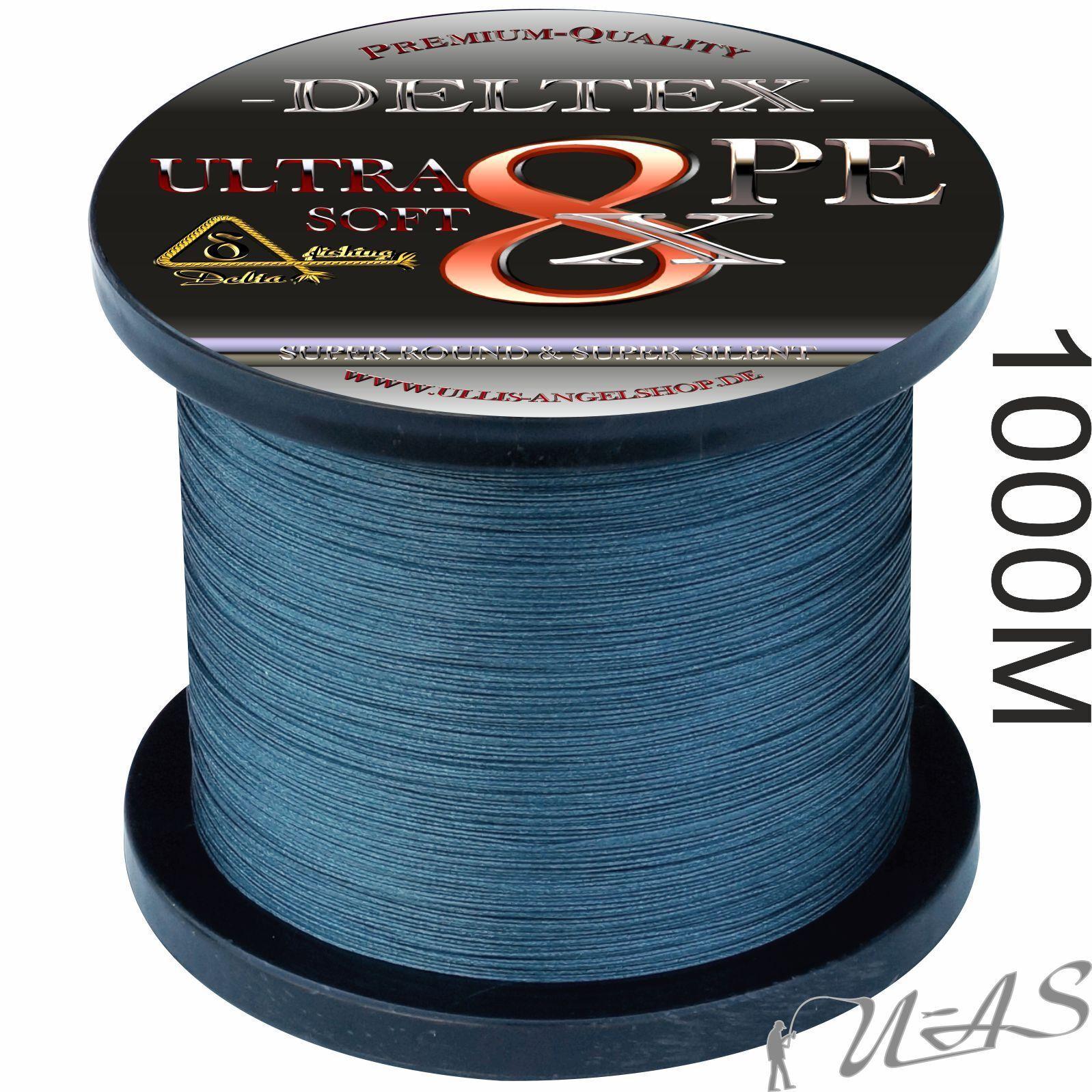 Deltex Ultra Soft Grigio 1000m 8 volte circa intrecciato lenza 100% PE KVA