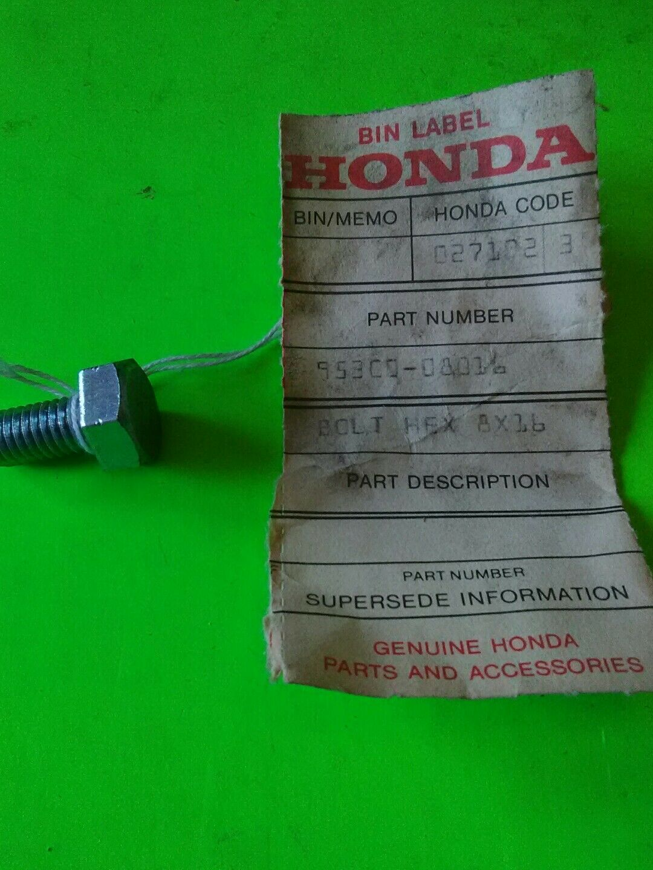 GENUINE Honda NOS 95300-08070-00 BOLT 8X70 HEX.