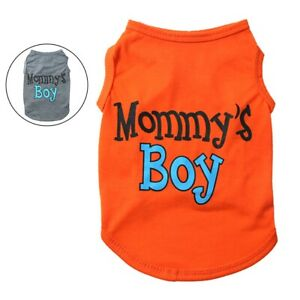 Dog-Pet-Clothes-Summer-Mommy-039-s-Boy-Puppy-Vest-Sleeveless-Dog-T-Shirts-Apparel