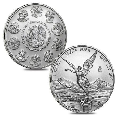 Lot of 2-2019 1 oz Mexican Silver Libertad Coin .999 Fine BU