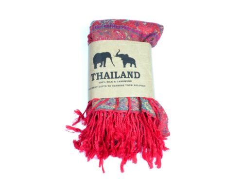 Thaïlande 100/% soie /& cachemire écharpe
