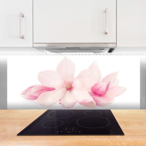 Kitchen Splashback 125x50 Tempered Glass Flowers Floral