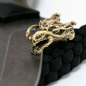 Chinese-Dragon-Metal-Beads-Camping-Alloy-Knife-Bracelet-DIY-Paracord-Accessories