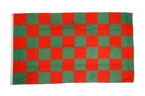 Bandiera a quadri rosso-verde bandiera verde rossa hissflagge 90x150cm