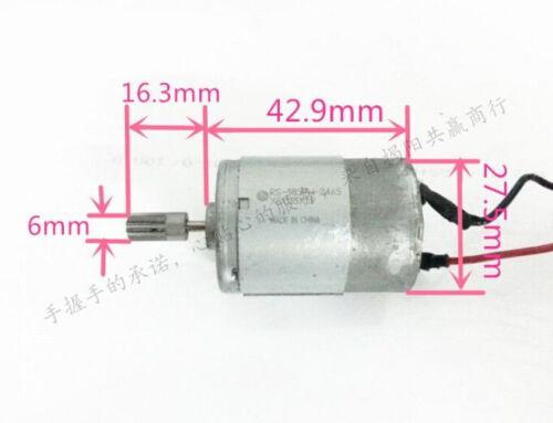 MABUCHI385  2 Wired DC Geared Motor for Printer Machine RS-385PH-2465
