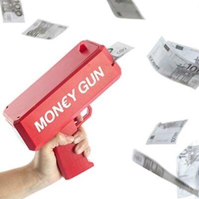 Pistola Sparasoldi Money Gun Spara Soldi Con Banconote Giocattolo Bambini Rosso Ebay