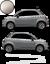 Fiat-500-Autocollant-Bandes-Stickers-adhesifs-decoration-couleur-au-choix miniatura 5