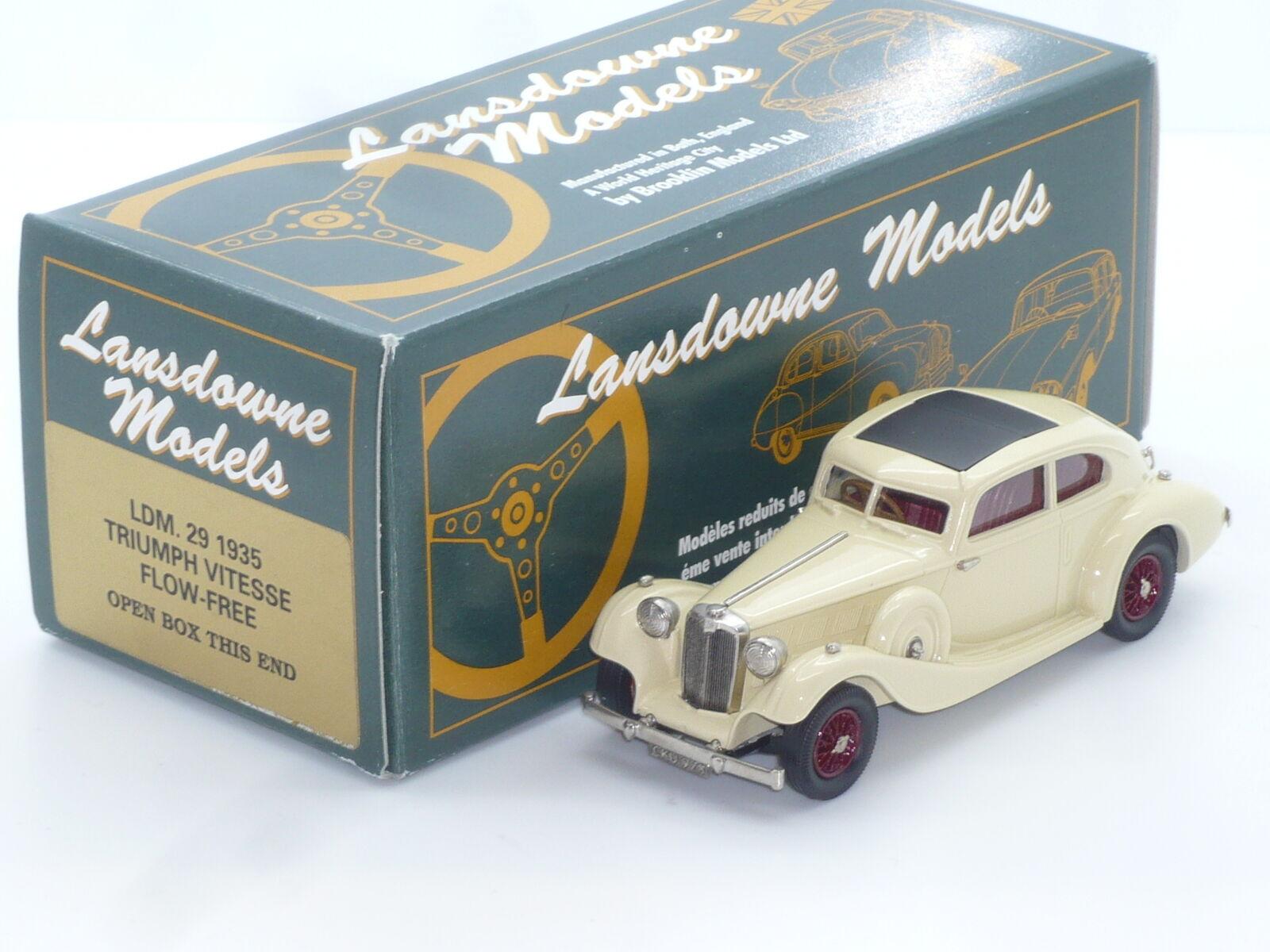 Neue 1 43 lansdowne modelle ldm29 1935 triumph handbuilt brooklin flowfree vitesse