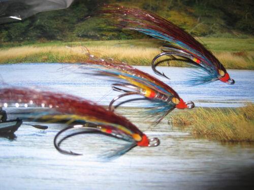 3 V Fly Size 5 Ultimate Alta Silver Blue Shrimp Salar Double Salmon Flies