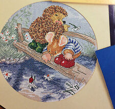 """Country Companions Cross Stitch Chart: """"Ed and Tom by the River"""""""