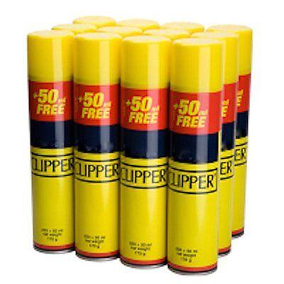24 x 300ml CLIPPER Universal Gas Lighter Refill Gas Fuel Butane Bottles