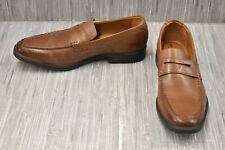 *NEW* CLARKS Men/'s Tilden Way Leather Penny Loafer Tan MSRP $110 26131576