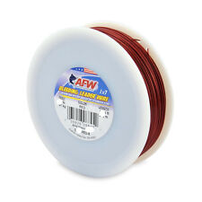 American Fishing Wire Bleeding Leader Blood Red Nylon Coated 1x7 Stainless Steel