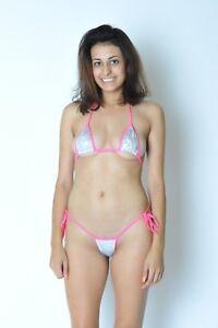 6c3ba8dfbc7 micro scrunch butt bikini w/adj. top & side tie bottom shattered ...