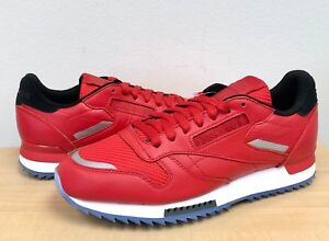 4c83c6f72ea MENS REEBOK CLASSIC CL LEATHER RIPPLE LOW BP BS5250 Primal Red White ...