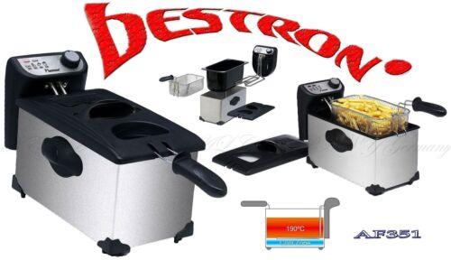 1 von 1 - BESTRON AF351 KALTZONE Küchen Fritöse Fritteuse 2200W Edelstahl Schwarz 11