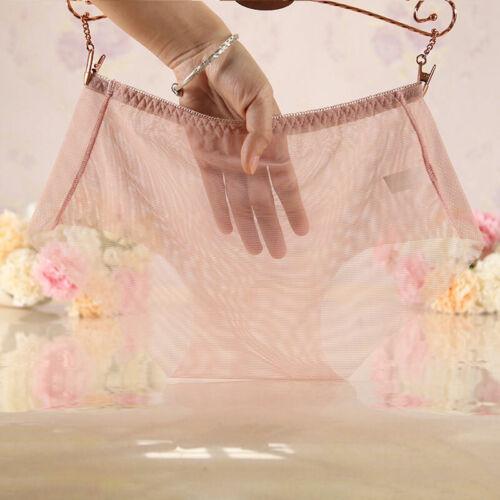 Women Sheer Panties Thong Ultra-thin Mesh See-through Underwear Lingerie Knicker