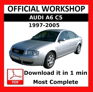 official workshop manual service repair audi a6 c5 1997 2005 rh ebay com Audi A6 C5 Slammed C5 Audi A6 Interior