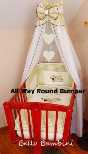 11 pcs CRIB bedding set //BumperALL ROUND//sheet//duvet//CANOPY//CANOPY DRAPE HOLDER