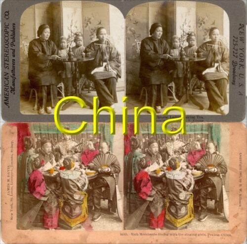 18 STEREOVIEWS CHINA PEKING Beijing 1900 Series 8