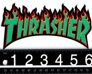 f60118414e0c Image is loading THRASHER-SKATEBOARD-STICKER-Thrasher-Skateboard-Magazine -Shred-Or-