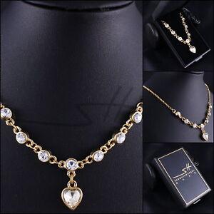 Kette-Halskette-Collier-Herzen-Gelbgold-pl-Swarovski-Elements-inkl-Etui