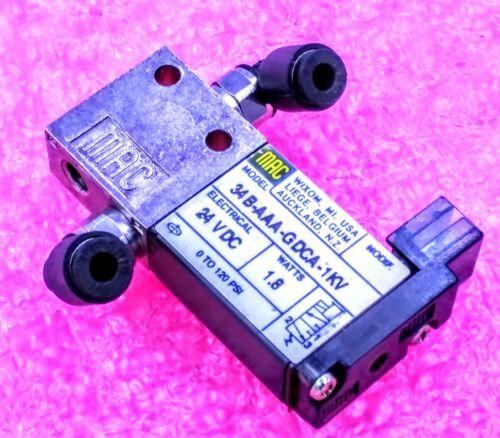 MAC Directional Control Valve Part# 34B-AAA-GCDA-1KV 3 or 10 Lot of 1