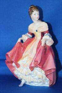 Vintage-Royal-Doulton-Southern-Belle-HN-2229-8-inch-Tall-Pink-Porcelain-Figurine