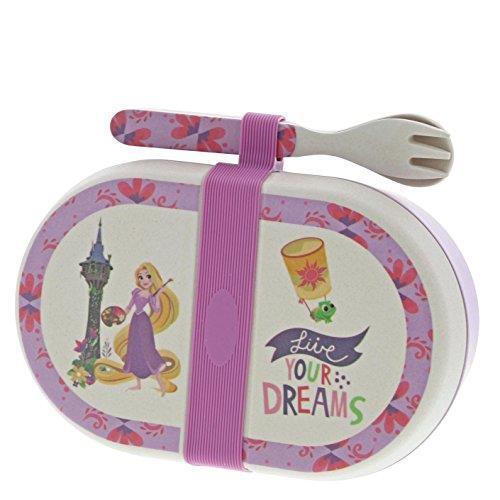 Disney Enchanting A29241 Rapunzel Organic Bamboo Snack Box with Cutlery Set
