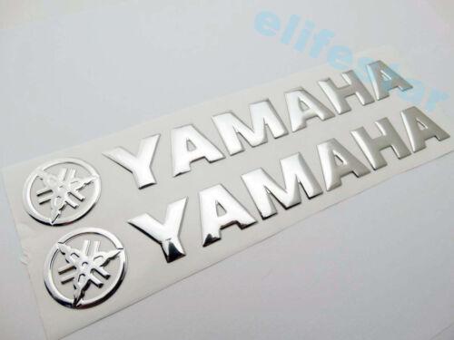 3D Silver Fuel Gas Tank Badge Fairing Emblem Decal Sticker Pad For Yamaha